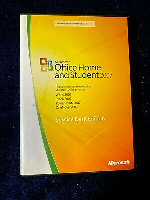 Microsoft Office Home & Student 2007 Service Desk Edition~ Product Key Included