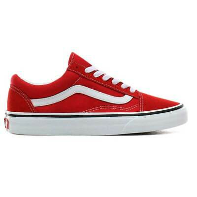Scarpe Vans Ols Skool Racing Red True White Uomo Donna Unisex Canvas Sneakers