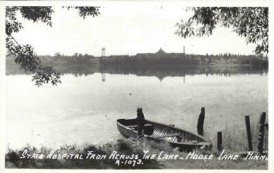 MN - State Hospital From Across The Lake REAL PHOTO POSTCARD Moose Lake