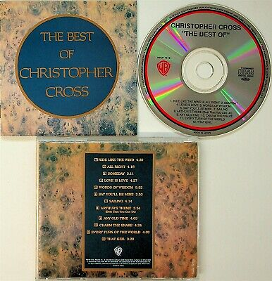 The Best Of Christopher Cross JAPAN Greatest Hits 1991 CD (WPCP-4549) NM