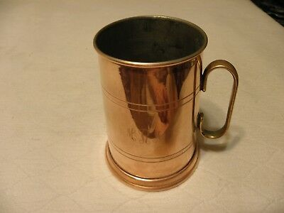 Vintage 16 ounce copper mug or tankard made in Portugal