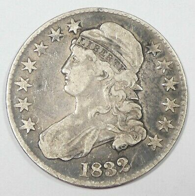 1832 Capped Bust/Lettered Edge Half Dollar FINE Silver 50c