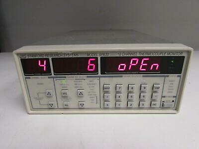 Stanford Research Systems SR630 16CH Thermocouple Monitor