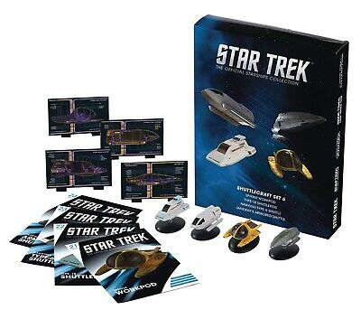 SHUTTLECRAFT SET 6 Eaglemoss STAR TREK Starship Collection JANEWAY SPHINX TYPE-6