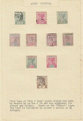Stamps Queen Victoria British Commonwealth Key types various countries on page