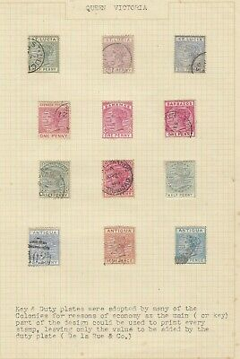 Stamps Queen Victoria British Commonwealth Duty types various countries on page
