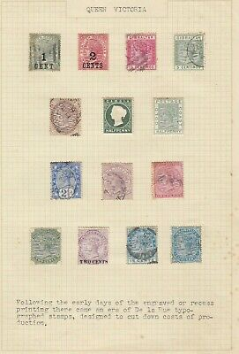 Stamps Queen Victoria British Commonwealth De La Rue various countries on page