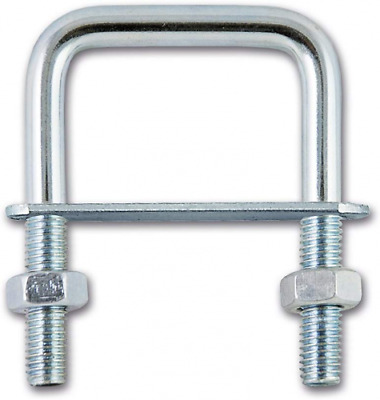 Chapuis BFC2 Flange with Tube Fixing Plate Zinc-Plated Steel M6 Square, Grey, 62