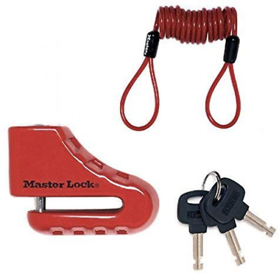 Master Lock 8303EURDPS with Steel Shackle, Red, 5 cm