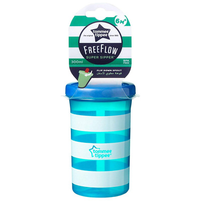 Tommee Tippee Essentials free flow Super Sipper 9m+ (turquoise stripe)
