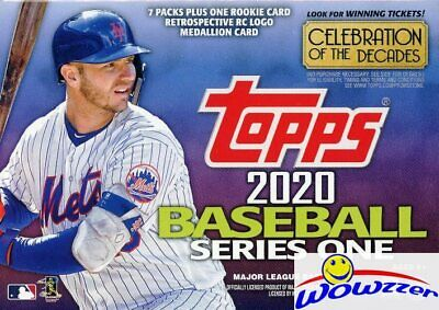 2020 Topps Series 1 Baseball EXCLUSIVE Sealed Blaster Box-ROOKIE MEDALLION RELIC
