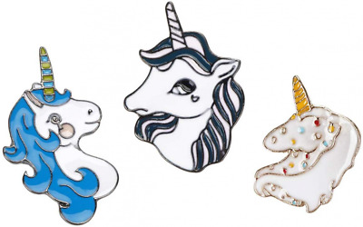 CoolChange Unicorn shaped metal badge set with 3 pins
