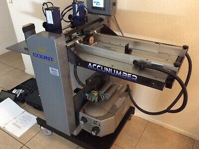 COUNT ACCUnumber Machine, Excellent Condition.