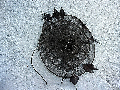 Lovely Fascinator.Black with Beads