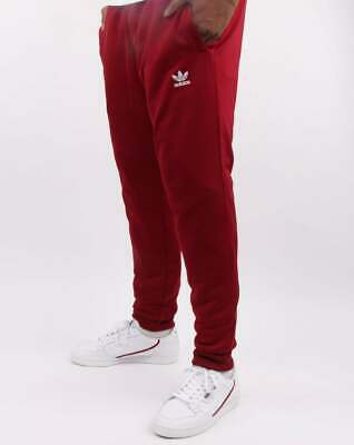 Adidas Originals Track Pants in Burgundy - Essential tracksuit bottoms, trefoil