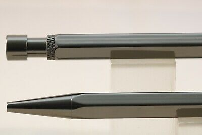 New Rossco's Hexagonal Gun Metal Grey Ballpoint Pen, Black Refill, Pen Pouch