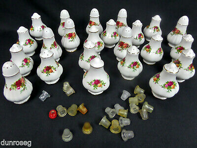 Royal Albert Old Country Roses Salt & Pepper Pot / Cruet Sets, Assorted Styles