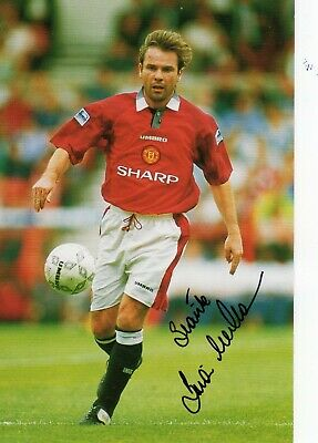 BRIAN McCLAIR AUTOGRAPH, MANCHESTER UNITED, FOOTBALL,SOCCER