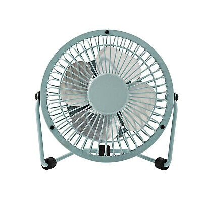 5V DC with Tilt adjustment Mistral 10cm USB Mini Desk Fan Silver