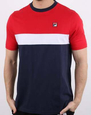 fila stripe t-shirt blue and red
