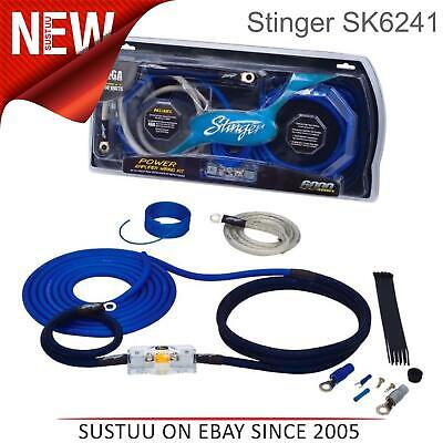 Stinger SK6241 4 Jauge Awg Up à 1750 Watt Voiture Power Amplificateur Câble Kit
