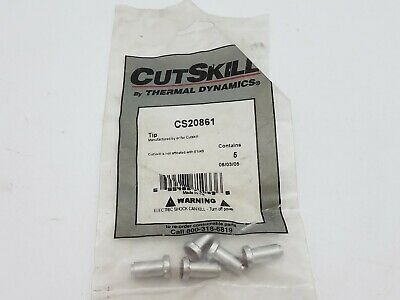 5Pc Thermal Dynamics CS20861 Cutskills 50 Amp Plasma Torch New Welding Equipment