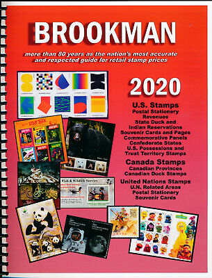 BROOKMAN 2020 Catalog of US Canada & United Nations Stamps - PRICE GUIDE / Book