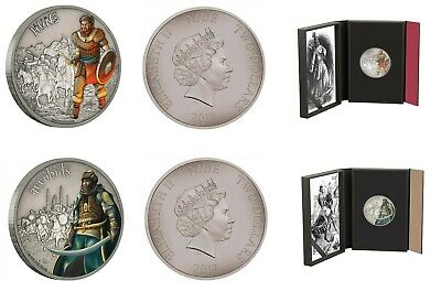 Zulus 1 oz Coin #9//10 2017 Niue Warriors Of History