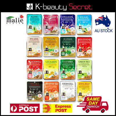 9 x Malie Korean Ultra Hydrating Essence Moisturise Skin Care Facial Mask Sheet
