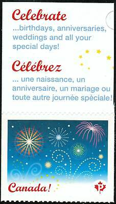 Canada sc#2259 Celebration 2008: Fireworks, Unit from Booklet Bk368, Mint-NH