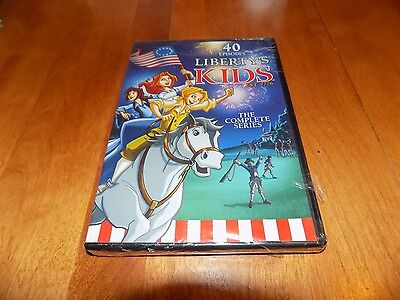 LIBERTY'S KIDS THE COMPLETE SERIES 40 Episodes TV Show 4 DVD Set SEALED NEW