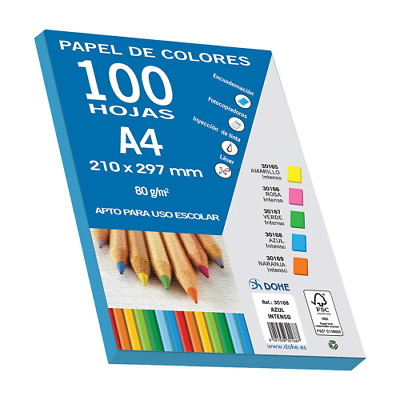 dohe 30168 – Pack of 100 Papers A4, 80 g, Deep Blue