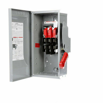 Siemens HF321N 30-Amp 3 Pole 240-volt 4 Wire Fused Heavy Duty Safety Switches