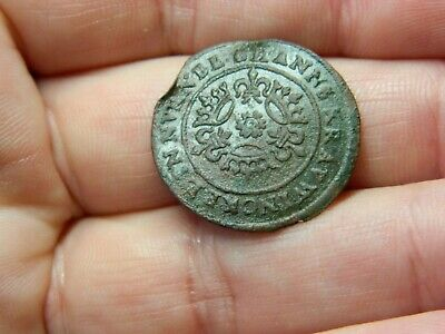 Un researched Medieval bronze jetton token crowns etc Metal detecting detector
