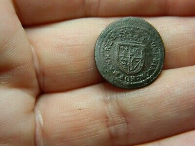 Un researched Post Medieval bronze jetton token coin ? Metal detecting detector