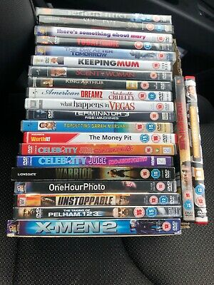 100 x DVDs, Used But There Are Some Still Unopened. 50p Each, 5 For £2 Etc