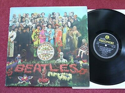 Parlophone Pmc 7027 Yellow Beatles Sgt Pepper's Lonely Hearts Club Band Vg+/Vg+