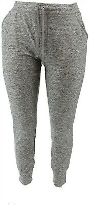 Isaac Mizrahi SOHO Space Dye Cargo Jogger Pants Soho Grey L NEW A305203