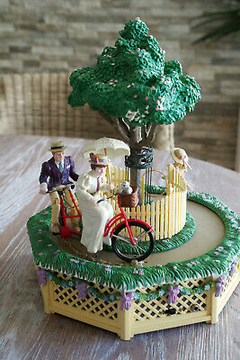 ENESCO Spieluhr + On A Bicycle Built For Two + Fahrrad + Tandem + Baum Licht