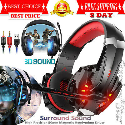 Pro Gaming Headset With Mic XBOX One PS4 PC Headphones Microphone Beats NEW