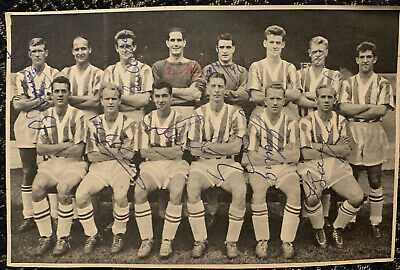 Multi Signed 1950s Stoke City FC X9 Football Autograph 1960s Players Team Group