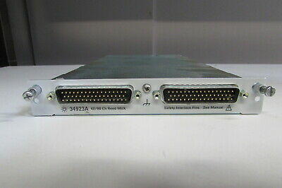 Agilent 34923A 40/80 Channel Reed Multiplexer for 34980A