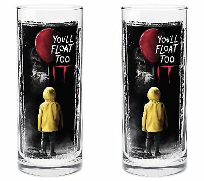 IT Movie Pennywise Clown Supernatural Horror 340ml Highball Glasses Set of 2