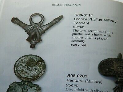 Rare Roman Romano british Military horse harness pendant Bird detecting detector