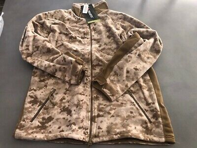 USMC Desert Digital MARPAT Polartec Jacket Wind Pro Fleece Large-LONG New