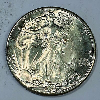 1942 Walking Liberty Half Dollar - High Quality Scans #C706