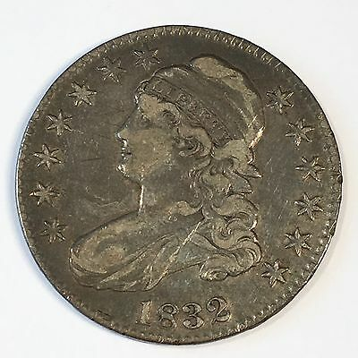 1832 Bust  Half Dollar - Nice Original - Check the High Quality Scans #D010