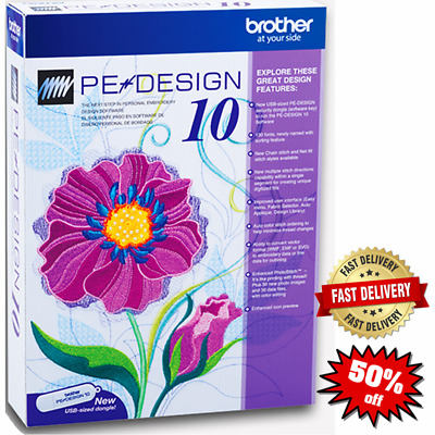 Brother PE Design 10 Embroidery Full Software 2020 🔥Free Gifts🔥 INSTANT DELVRY