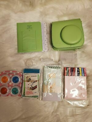 Deluxe Accessory Kit for Fujifilm instax mini 9 camera. Green camera case