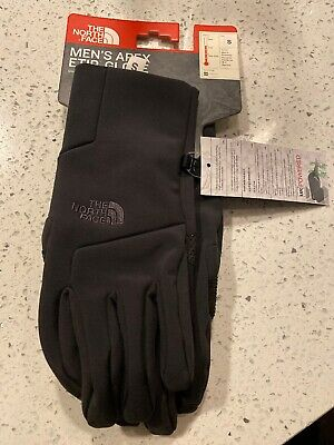 North Face Small MENS Apex+ Etip Gloves TNF Black NWT